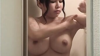 Japanese Natural Big Boobs in Shower